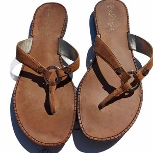 Lily Pulitzer leather thong sandals